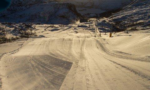 Eikedalen kan endelig åpne lørdag. Slik så det ut i Seterløypen onsdag.