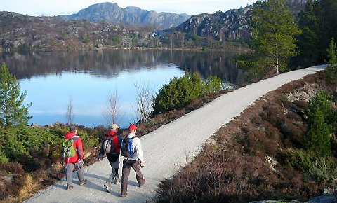 STENGES: Turstien skal stenges midlertidig for veirensk.