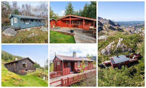 TIL SALGS: Disse fem hyttene har alle en prisantydning på under én million kroner.