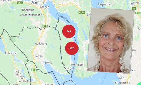 Jeanne M. Donstad er en av 851 husstander som mistet strømmen søndag. Etter tre timer var den tilbake.