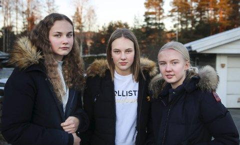 VIKTIG: 14-åringene Kristine Lervåg Skjønnegård, Jenny Warloff Helgedal og Aasne Haldorsen Nesland synes alle ungdommer bør få med seg #hengdeg.