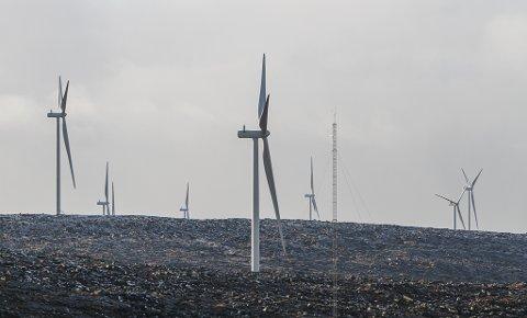 STØRST: Det nye vindkraftanlegget på Guleslettene er det største skatteobjektet for Kinn kommune i 2021.