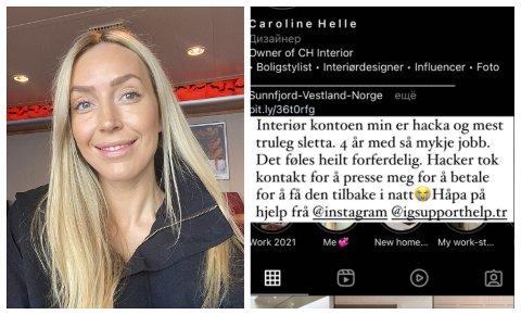 UBEHAGELEG: – Eg er veldig obs på sikkerheit på nett og tar forholdsreglar, men her var det ikkje mogleg for meg å oppdage før det var for seint, seier Caroline Helle.