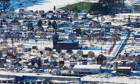 narvik sentrum e6 vinter hus eiendom bolig oversikt oversiktsbilde