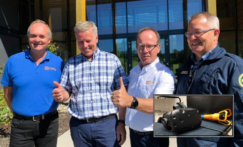 FORNØYD GJENG: (f.v.) Hans Seime, Børre Jacobsen, Arve Aasmundseth og Trond Halvor Knapstad gleder seg til samarbeidet.