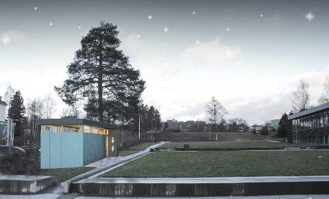 EN VENN I NØDEN: Arkitektlaget har fulgt debatten om mangel på offentlig toalett i byen, og har like godt tegnet hvordan en slik do kan se ut, og hvor det kan plasseres.