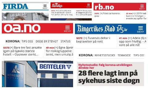 TILGANG: Nå får abonnentene  i Hadeland tilgang til alle Amedias lokalaviser.