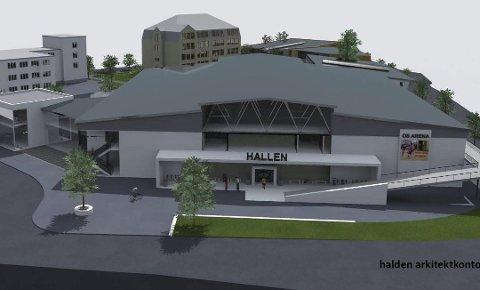 NY HALL: Os arena, tegnet av Halden arkitektkontor.