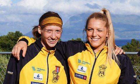 GULLJENTENE: Tessa Frenay (tv) og Emilie Ingerø vant begge NM-gull under junior-NM i friidrett.