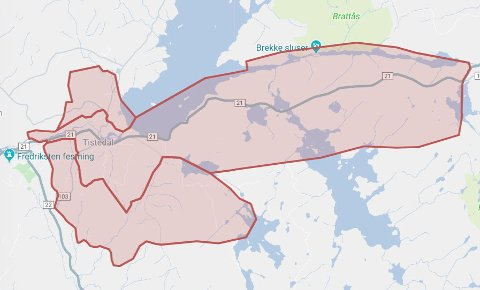 Strømbrudd-kart Hafslund nett fredag kveld kl. 20.35