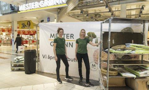 ÅPNER: Maien Hagen og Ingunn Brendlien gleder seg til å åpne Mester Grønn på Maxi. Foto: Jo E. Brenden