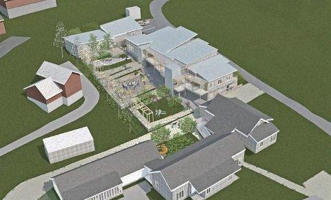 Vert bygde: Bygginga av sju kommunale omsorgsbustader på Bråto i Kinsarvik vert gjennomført.  Illustrasjon: Fortunen arkitektur