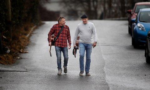 GÅR VIDERE SAMMEN: Tidligere rusmisbrukere Jostein Jensen (t.v.) og Eigil Karlsen har startet gruppen Amen for å komme ut av rusen.