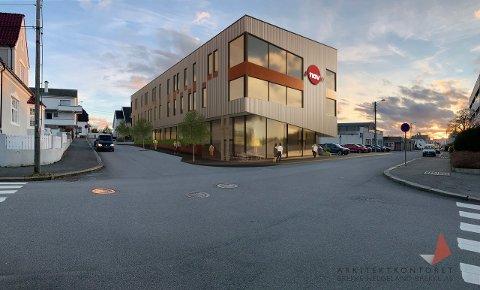 SØRHAUG: Parkeringsplassen nord for bilforhandler Nils Sørhaug har vært med i kampen om å huse NAVs framtidige lokaler i Haugesund sentrum.
