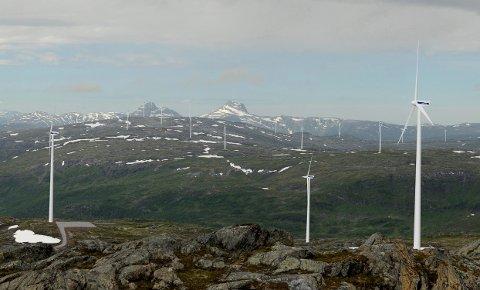 Øyfjellet vindkraftverk slik det vil ta seg ut i terrenget.