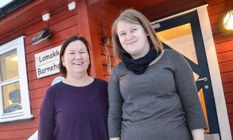 MER HELTID: Enhetsleder Nan-Helen Mikalsen (t.v.) ved Lomakka barnehage i Vadsø mener mer heltid i barnehagen gir trygghet til både barn og voksne. Her avbildet med verneombud Signe Jakola Sandstad ved en tidligere anledning.