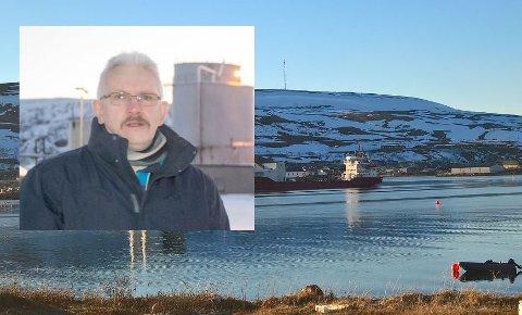 BEGYNT: Byggingen av det nye biogassanlegget i Båtsfjord er igang. Hovedaksjonær og daglig leder i Liholmen Biogass AS, Roald Eirik Knudsen, er fornøyd med oppstart.