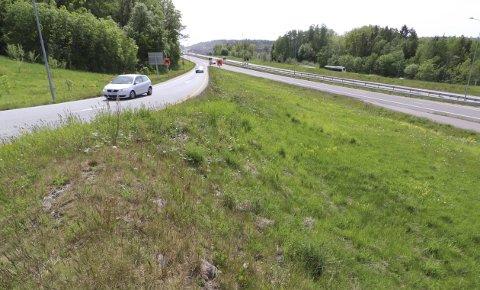 NTP: Blir lenge til noe skjer her ved E18 på Helland. Foto: Pål Nordby