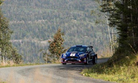 Rally Øverskogen: Onsdag skal det kjøres rally på Øverskogen når Maruis Fuglerud og Anders Grøndal er klare for å testkjøre bilen før NM-runden til helgen. Her fra fjorårets kjøring.