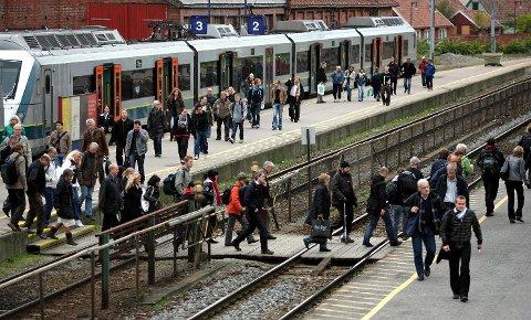 Moss Stasjon, jernbanen.
