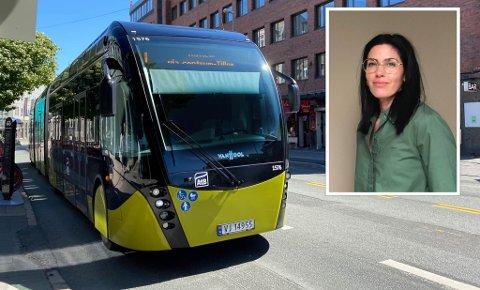 REAGERER: Tonje Cecilie Kjeldsberg Palomino (innfelt) tok et oppgjør med AtB.