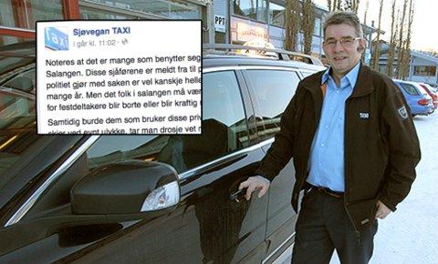 – Ingen vil kjøre drosje om det ikke er mulig å tjene penger på det, sier Svein Hauglid.