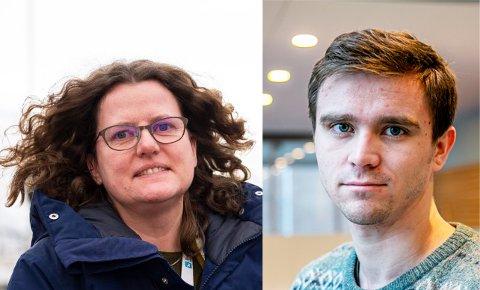 KRITIKK: Barbara Vögele, MDG-politiker, mener SV-kollega Benjamin Arvola Notkevich ikke burde evaluere stenginga av Skippergata før den ordentlige evalueringa er ferdig. - Min mening, kontrer Arvola Notkevich.