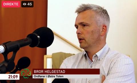 BLE IRRITERT: Ordfører Bror Helgestad (Sp) har beklaget overfor hele kommunestyret at han «ble irritert» og ordla seg på en måte han angrer på.