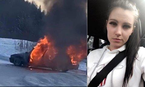 FYLL FYR: Lise Overen forteller om den dramatiske kjøreturen til familien på fem, da bilen tok fyr under kjøring og bremsene sviktet.
