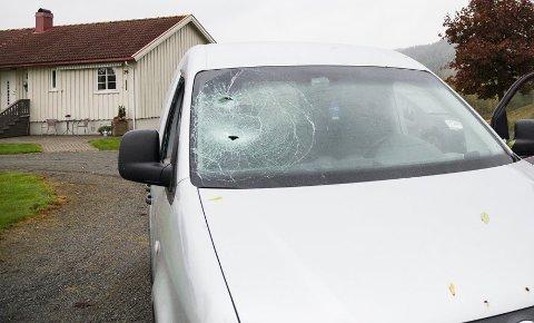 BLE ANGREPET: Jan Olav Bergan ble i fjor angrepet med kølle da han satt i bilen i september i fjor. Nå har gjerningsmannen fått redusert straffetid.