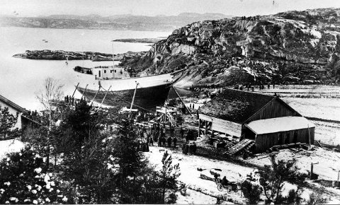 Fram sjøsetting i rekkevik 1892