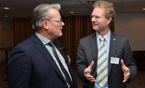FIKK TILLIT: Johan Aas (til venstre) og Tor André Johnsen er henholdsvis nummer to og én på Frps stortingsliste i Hedmark valgdistrikt.
