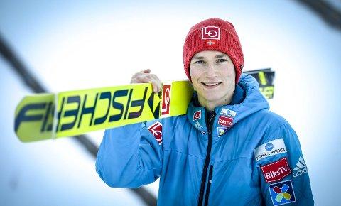 Hoppukeklar: Robin Pedersen er på det norske laget i Hoppuka, og følger i faren Trond Jørans spor. Han fikk tre sesonger i Hoppuka som aktiv. Foto: Øyvind Bratt