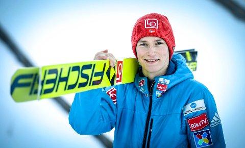 Robin Pedersen kom på pallen på Lillehammer etter at han hoppet bakken ned i andre omgang.