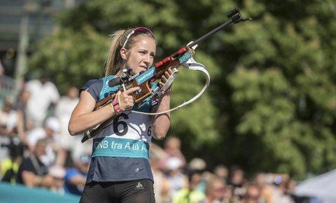 SAMLING: Emilie Ågheim Kalkenberg, Skonseng UL, har allerede lagt bak seg to samlinger i en ny landslagssesong, den siste på Beitostølen. Her i et showrenn sist sommer.