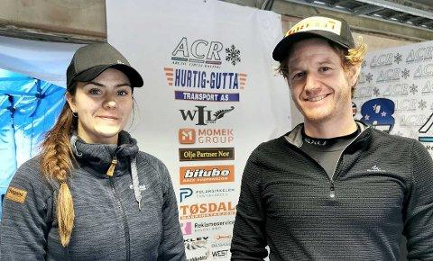 Renate Jensen og Sam Love kjører i samme klasse. Love leder NM før helgens tre runder på ACR, mens Jensen er nummer fem.