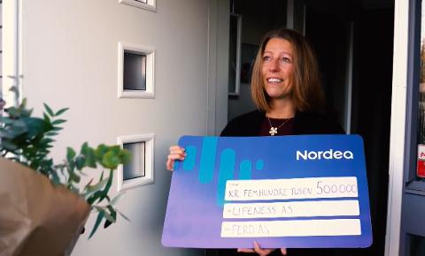 VINNER: Solvor Øverlien Magi og teamet bak appen Lifeness vant prisen for Årets Sosiale Entreprenører, samt en halv million kroner.