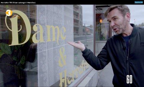 I TV3-programmet «Businessfellen» vandret frisør Birger Løkeng rundt i Hønefoss og talte salonger. Antallet han kom fram til var så høyt at leserne reagerte. Nå har Ringerikes Blad sjekket.