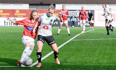 KLAR FOR NYE DUELLER: Silje Nyhagen og lagvenninnene i HBK vant 3-2 over serietoer Kongsvinger sist. Nå venter trolig opprykkskvalik mot enda tøffere motstand.