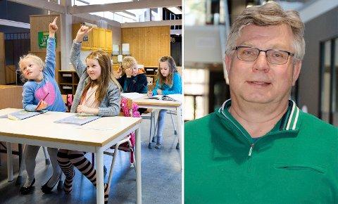 SNART SKOLESTART: Rektor Roy Korslien og hans ansatte ved Benterud jobber nå for å imøtekomme skoleveilederen før skolestart mandag.