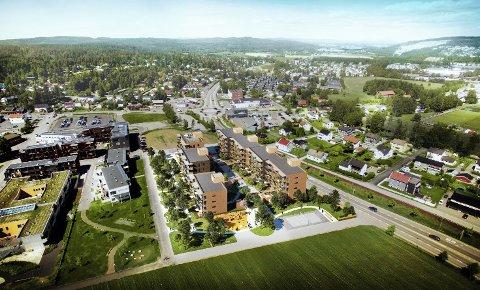FORTETTING: 1.000 nye boliger samt noe næring er mulig å få til her, i Skedsmokorset Øst, mener Skedsmo kommune.