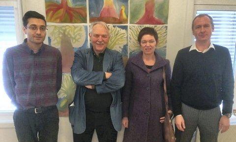 BIDRAGSYTERE: Håvard Kilhavn, Guttorm Grundt, Kari Martinsen og Rune Fimland. Foto: Eirik Alvegaard