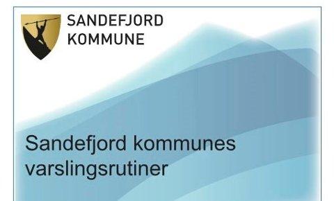 FORKASTET: Forsiden på forslag til varslingsreglement fra personalavdelingen, som tidligere konstituert rådmann Stein Rismyhr ikke ville benytte.