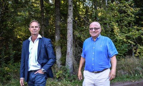 BOLIGPLANER: Terje Schau (t.h.) har med seg kompanjong Geir Michael Enberg Jesinsky som minoritetseier i utbyggingsselskapet.