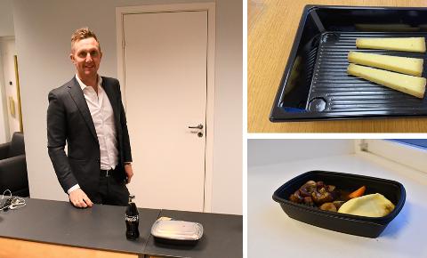 Kjetil Andersen tok selv turen for å levere 100-ugå-måltidet fra Ti.