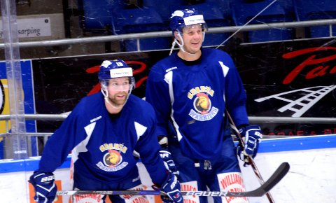 TILBAKE: Joachim Nermark til venstre er klar for spill og Tommy Kristiansen skal møte tidligere lagkamerater onsdag.  Foto: Ole-Morten Rosted.