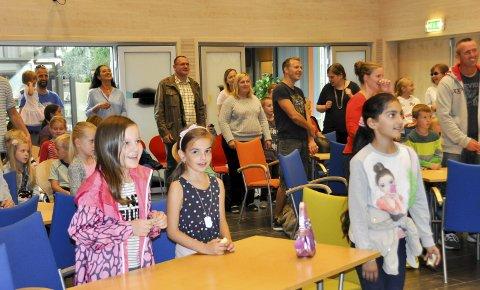 Suksess: Mange Askim-barn deltok i Sommerles. Her fra avslutningsfesten.