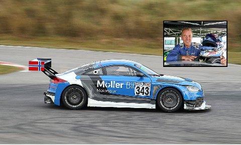 TIL SALGS: I helgen sikret Olav Rygge seg sin tredje strake NM-tittel i baneracing. Nå gir han seg og ønsker dermed å selge sin unike Audi TT RS.