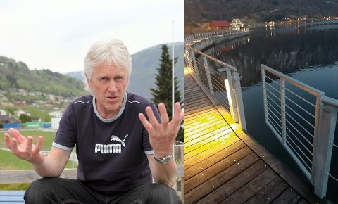 FJORDSTIEN: Jon Navarsete gjekk ein tur på fjordstien i Sogndal og oppdaga at ein av portane var opne.