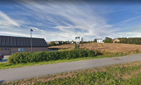 Det er på denne marken på Skadberg sør at det skal bygges 88 nye boliger.